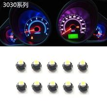 10Pcs T4.2 car and motorcycle instrument bulb 2W 6000k panel for Toyota Honda Nissan 12V universal white light