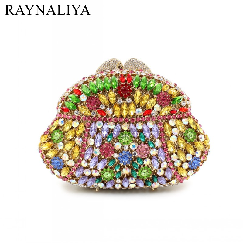New Women Fashion Day Clutches Evening Bags Rhinestones Clutch Handbags Crystal Wedding Bag Day Cluthes Mini Purse Smyzh-e0305 luxury real new arrival day clutches diamonds flower women bag banquet crystal handbag wedding party handbags night clubs purse