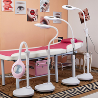 LED Magnifying Light Floor Lamp Magnifier with Stand Flexible Adjustable Gooseneck Beauty Salon Jewelry Reading Light