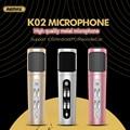 100% original remax alta qualidade metal mini microfone sem fio aux 3.5mm gravar com aux cabo micro usb cabo de carregamento de energia