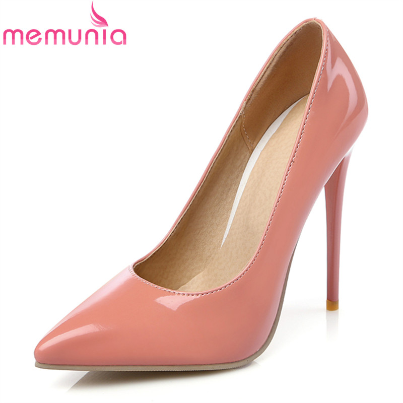 MEMUNIA 2017 new arrive women pumps fashion pointed toe shallow super high ladies spring autumn high heels single shoes lin king fashion pearl pointed toe women flats shoes new arrive flock casual ladies shoes comfortable shallow mouth single shoes