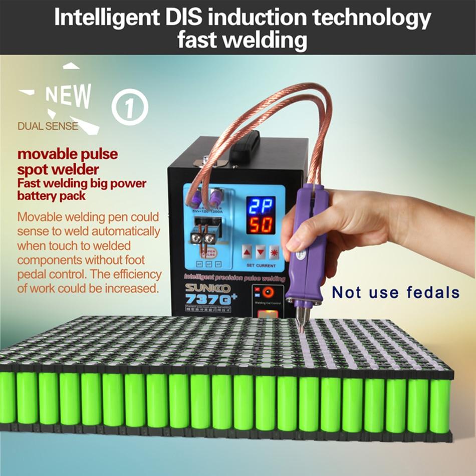 Image 4 - SUNKKO 737G 737G + smart boutique battery pack DIS inductive handheld dual function battery spot welderSpot Welders   -