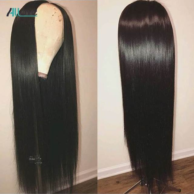 Allove Straight Lace Front Human Hair Wigs Remy 360 Lace Frontal Wig 13X4 13X6 Brazilian Straight Lace Front Wig 250 Density 3