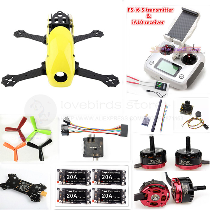 DIY FPV mini drone Robocat 270 V2 pure carbon frame kit NAZE32 Rev6 10DOF+EMAX RS2205 2300KV + little bee BL20A ESC + camera diy mini drone fpv race nighthawk 250 qav280 quadcopter pure carbon frame kit naze32 10dof emax mt2206ii kv1900 run with 4s