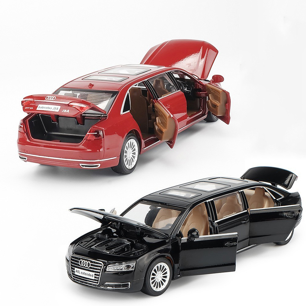 1:32 Scale Audi A8 Musical Lighting Machine Diecasts Toy Vehicles Hot Wheel Car Model With Car Hot Wheel Doors Can Be Opened Toy