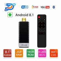 X96s inteligente 4K Android 8,1 TV caja Amlogic S905Y2 DDR4 4GB 32GB X96 Mini PC TV Stick 5G WiFi Bluetooth 4,2 TV Dongle reproductor de medios