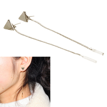 2018 New Arrivals Hottest Fashion Women Brincos Oorbellen Bijoux Geometric Triangle Metal Rod Chain Tassel Drop Earrings Jewelry
