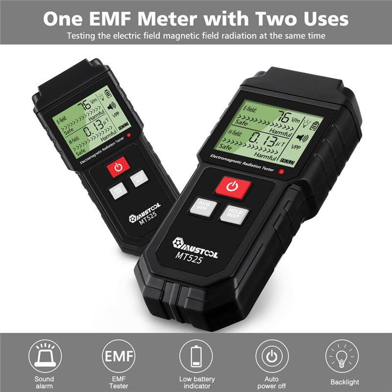Elektromagnetische Bereich Strahlung Tester EMF Meter Handheld Zähler Digitale Dosimeter LCD Detektor Messung Für Computer Telefon
