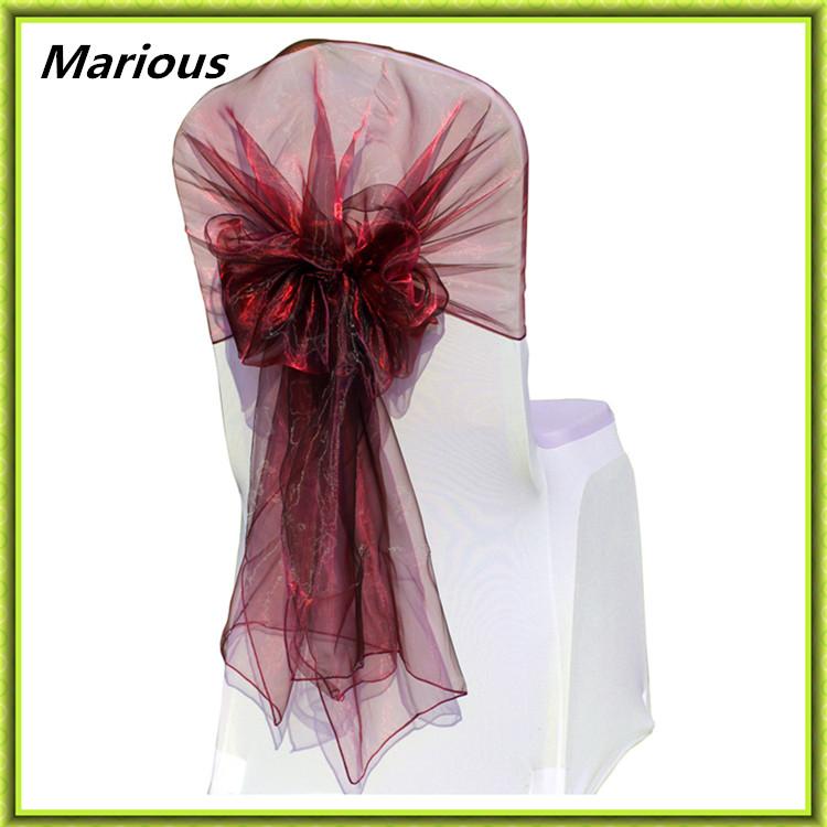 New arrival hot selling 100PCS wedding decoration organza chair HOOD with high quality