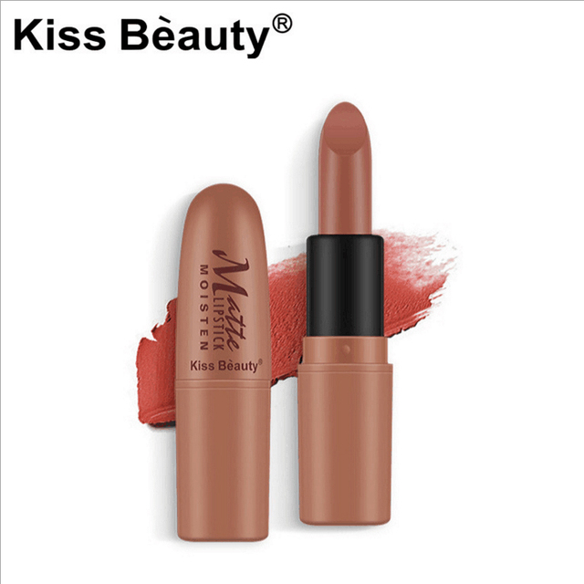kiss beauty brand matte Lipstick nude batom sexy red Waterproof Long-lasting  Easy to Wear Pencil Lip Stick Cosmetic Makeup Lips 4df8770013d7