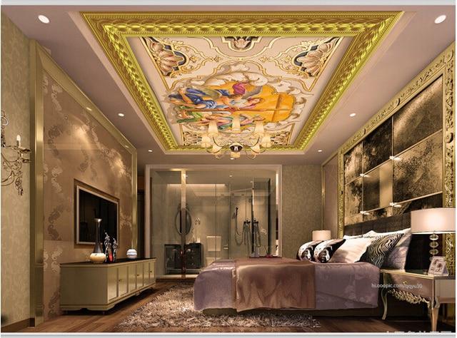 Carta Da Parati Per Soggiorno Classico : D personalizzato soffitto carta da parati lusso classico stile