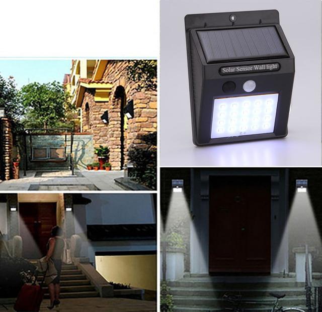LED Outdoor Solar Security Sensor Light