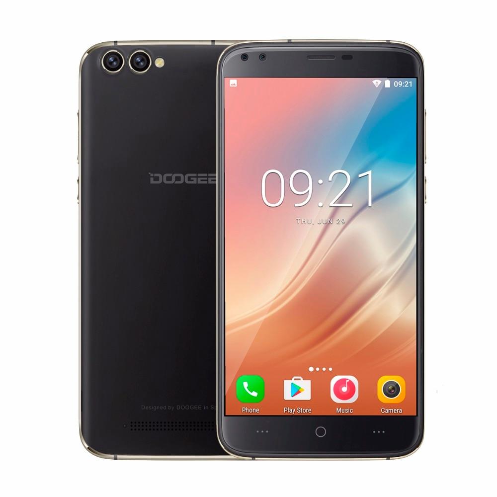 DOOGEE X30 Mobile phone Android 7.0 Quad Cameras 2x8.0MP+2x5.0MP 3360mAh 5.5'' HD MTK6580A Quad Core 2GB RAM 16GB ROM Smartphone