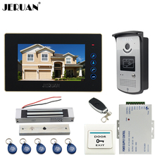 "JERUAN Home 7"" Touch video doorphone intercom systemr+700TVL IR Night Vision camera+Magnetic lock+FREE SHIPPING"