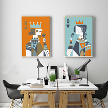 Abstract Poker King and Queen Canvas Paintings Wall Art Nordic Posters Prints Pictures For Living Room Home Decor Drop Shipping