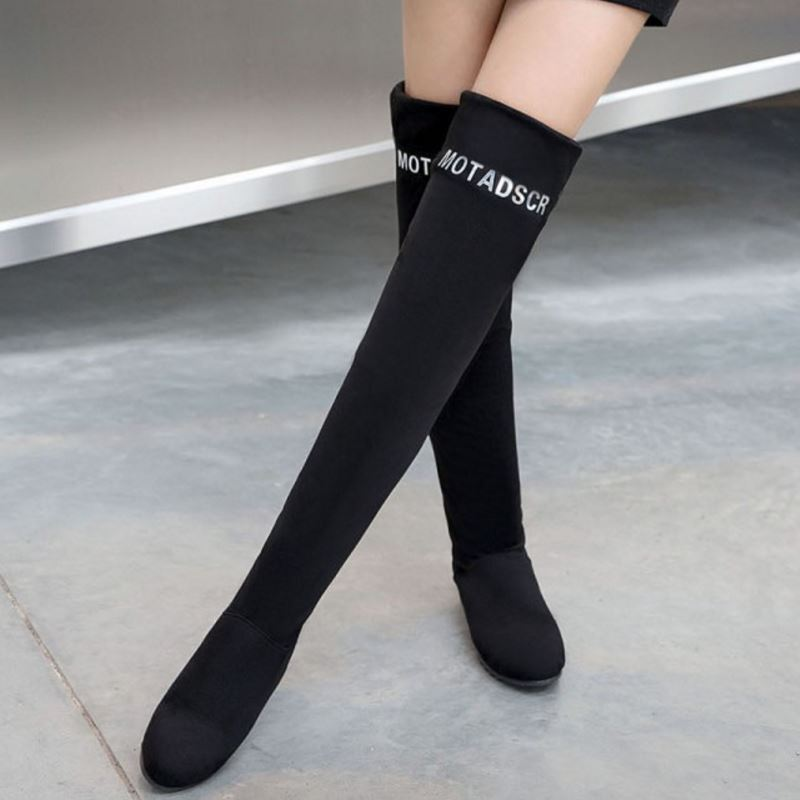 5749c26df thigh high boots are the essential items for winter, the thick booties can  help you keep warm even in cold wind. This year, we provide the most  fashionable ...