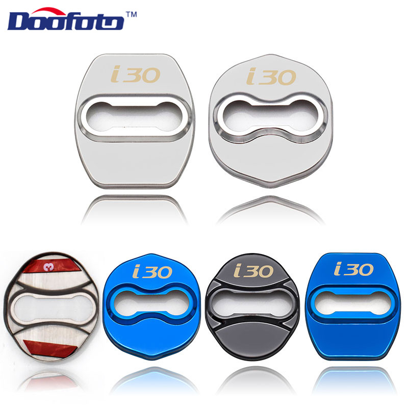 Doofoto Car Accessories Interior Sticker Fit For Hyundai I30 IX25 For Kia Ceed Auto Door Lock Protective Cover Emblems Promotion