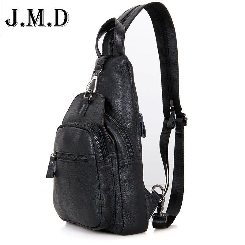 J M D Unisex Backpack New Style Genuine Leather backpack Women Small Bags chest bag Men