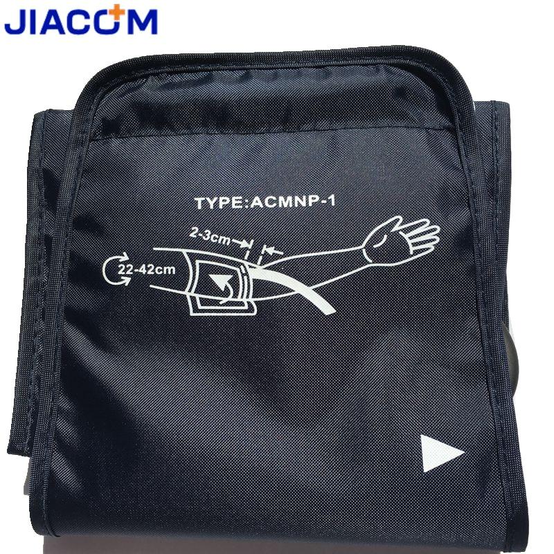 Jiacom 22-42 cm große erwachsene blutdruckmanschette für arm blutdruckmessgerät meter tonometer blutdruckmessgerät