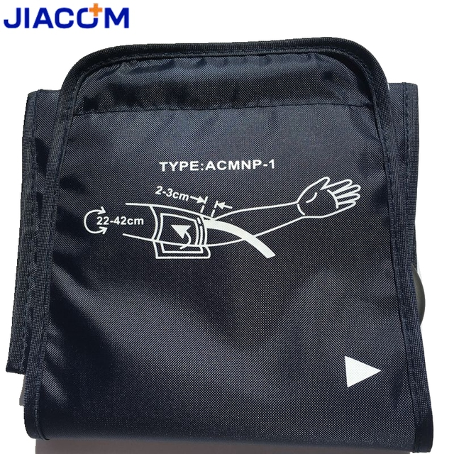 Jiacom 22-42cm large adult blood pressure cuff for arm blood pressure monitor meter tonometer sphygmomanometer