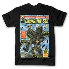 UNDER THE SEA COMIC DIVER MASHUP dtg mens t shirt tees new 2018100% Cotton Short Sleeve O-Neck Tops Tee Shirts Black Style цена и фото