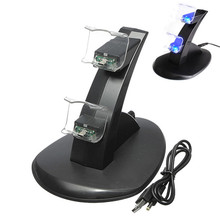 Hot Sale Great Charger Top Selling For Dualshock 4 Black PVC Material Dual USB Charging Dock Station Stand For Playstaion 4