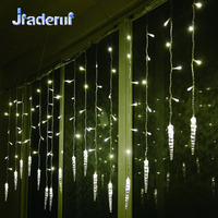 Jiaderui Curtain Icicle String Light Outdoor Waterproof 3 5M 16 Drop 96 LEDs Christmas New Year