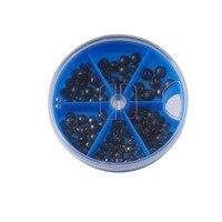 Free Shipping Different Diameter Round Fishing Lead Weight Sinker Split Shot Black Fishing Kits High Quality