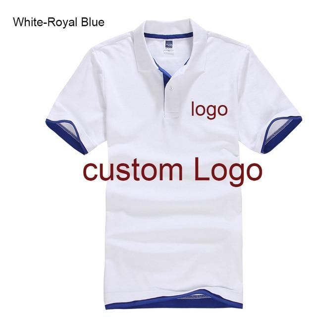 Camisa Polo personalizada Personalizado Serviço de Impressão Do Logotipo da  empresa hotel Staff Unisex 130995beb75b3