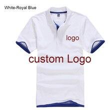 8e6332d5 Custom Polo shirt Customized Printing Logo Service company/hotel/Staff  Unisex Short Sleeve Cotton