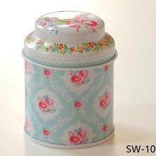 Винтажный стиль, садовая серия цветов, жестяная банка для чая/жестяная коробка для чистки олова/контейнер для хранения/
