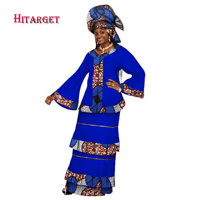 2017 New African Dresses for Women Dashik Private Custom Traditional African Clothing Sexy African Skirt Set Plus Size WY202