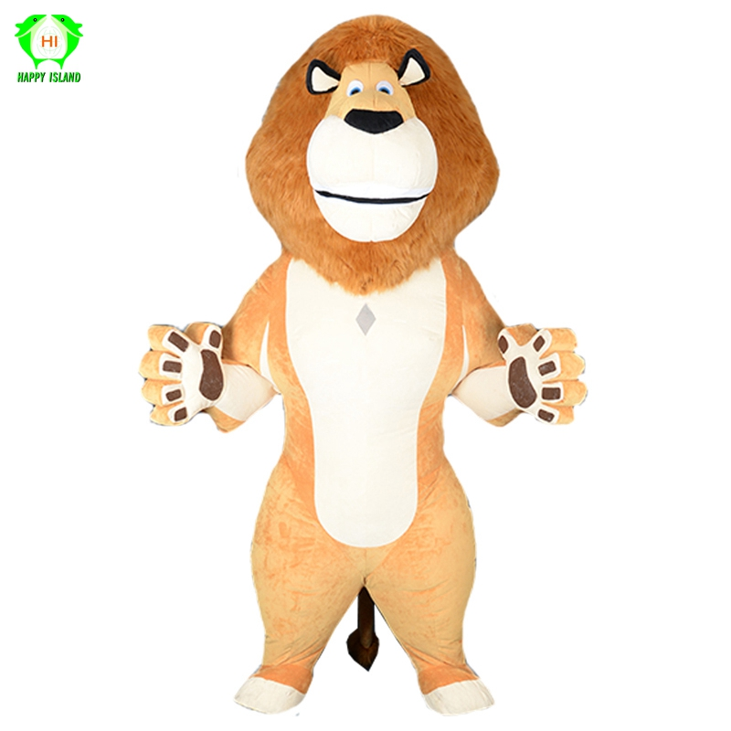 New Adult Cartoon Animal Lion Inflatable Mascot Costumes for 2.6M Tall Advertising Customize Halloween Christmas Cosplay Costume