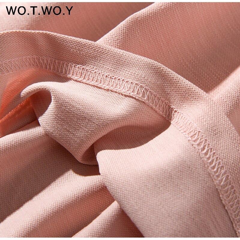 Long T-shirt Dresses Women Summer Sashes Waist Slit Casual O-Neck Short Sleeve Loose Ankle-Length Dress Woman Pink Cotton 26