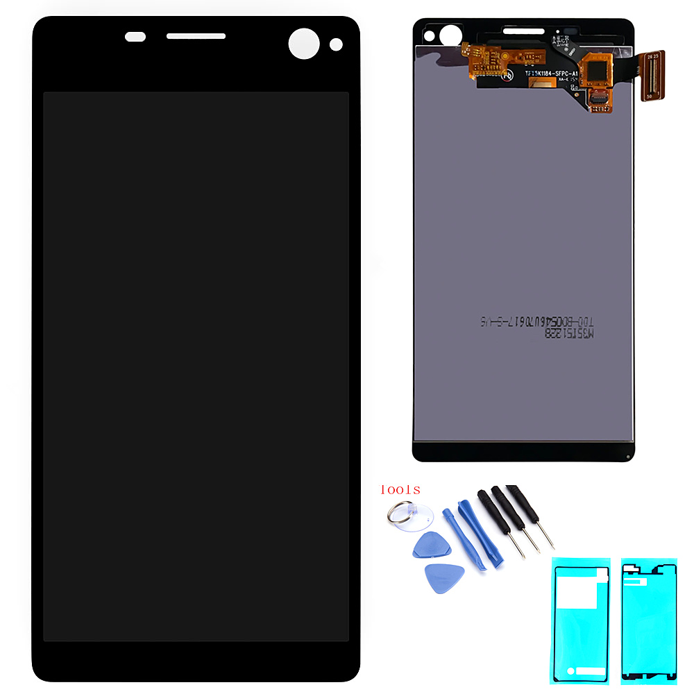 Original LCD Display For <font><b>Sony</b></font> <font><b>Xperia</b></font> C4 E5303 E5306 <font><b>E5333</b></font> Touch Screen Digitizer Assembly Replacement Parts LCD With Frame image