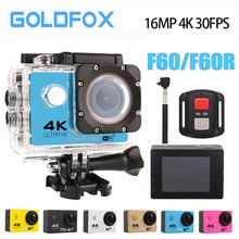 GOLDFOX Ultra HD 4 Karat Sport Action Video Kamera 170D Weitwinkel Go Pro Stil Wasserdichte Sport DV Bike Helm Mini Kamera Auto DVR