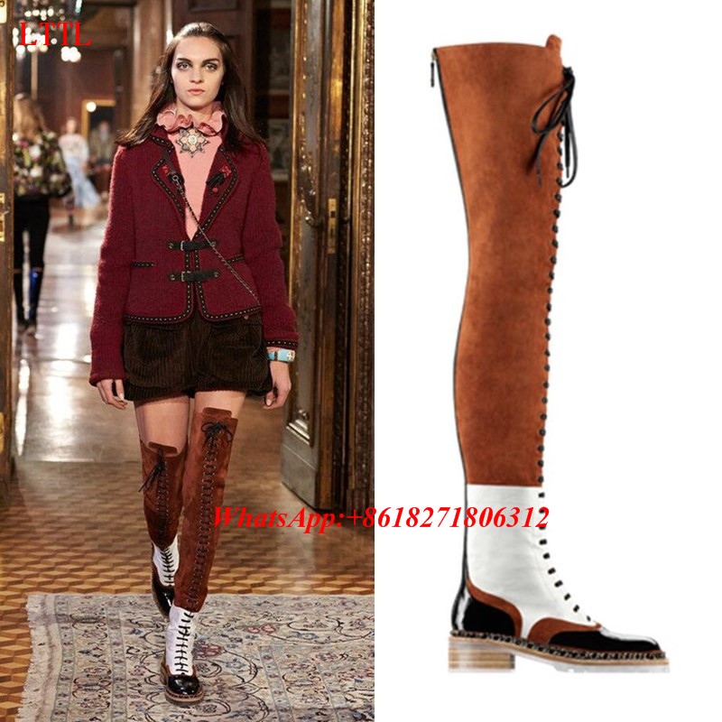 Popular Suede Thigh High Flat Boots-Buy Cheap Suede Thigh High ...