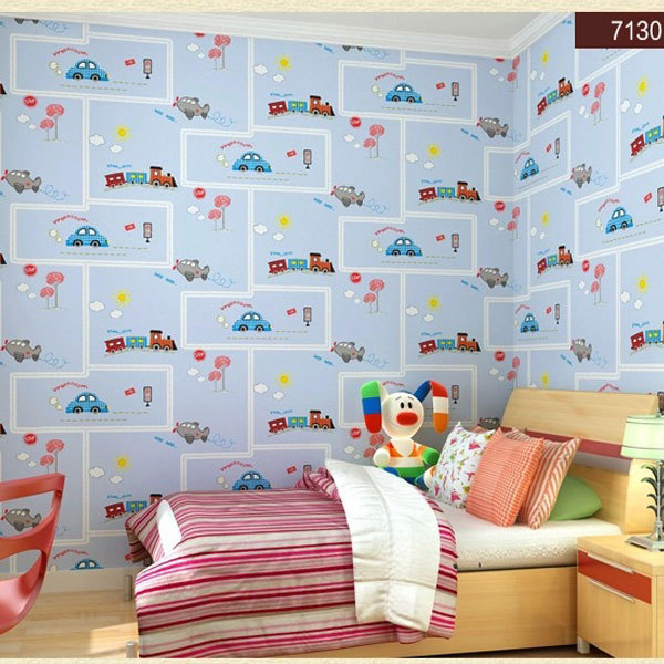 Beibehang Papel Parede Friendly Lovely Cartoon Cars Wallpapers Roll Kids Room Decoration Wall Paper Roll Non