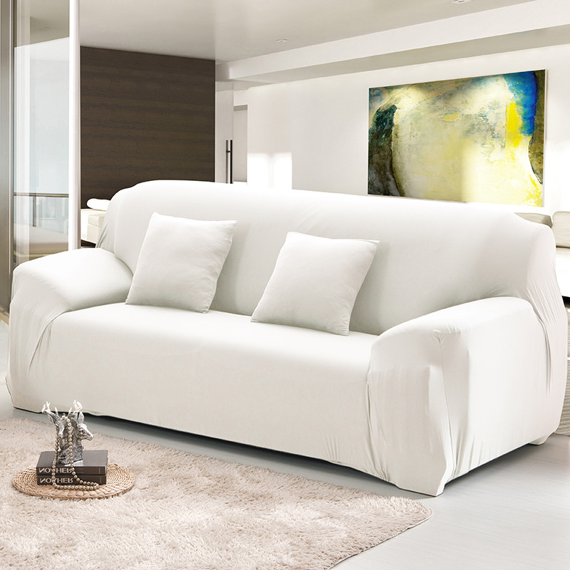 Marvelous White Elastic Sofa Cover Set Cotton Stretch Sofa Covers For Living Room Pets Corner Couch Cover Copridivano Protector Sofa Pdpeps Interior Chair Design Pdpepsorg