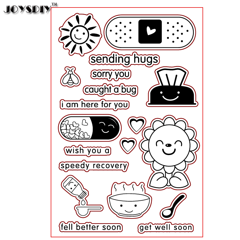 SENDING HUGS GET WELL SOON Scrapbook DIY photo cards account rubber stamp clear stamp transparent stamp Handmade card stamp spider texture background scrapbook diy photo cards account rubber stamp clear stamp transparent stamp handmade card stamp