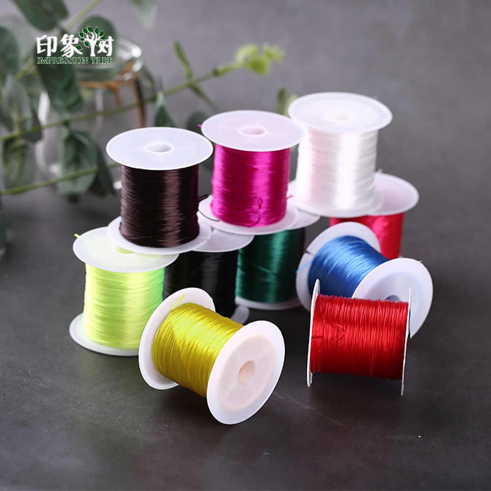 10 m/bobine 1mm cristal perles cordon extensible élastique Transparent fil/cordon/chaîne/fil collier Bracelet bijoux bricolage fabrication 407