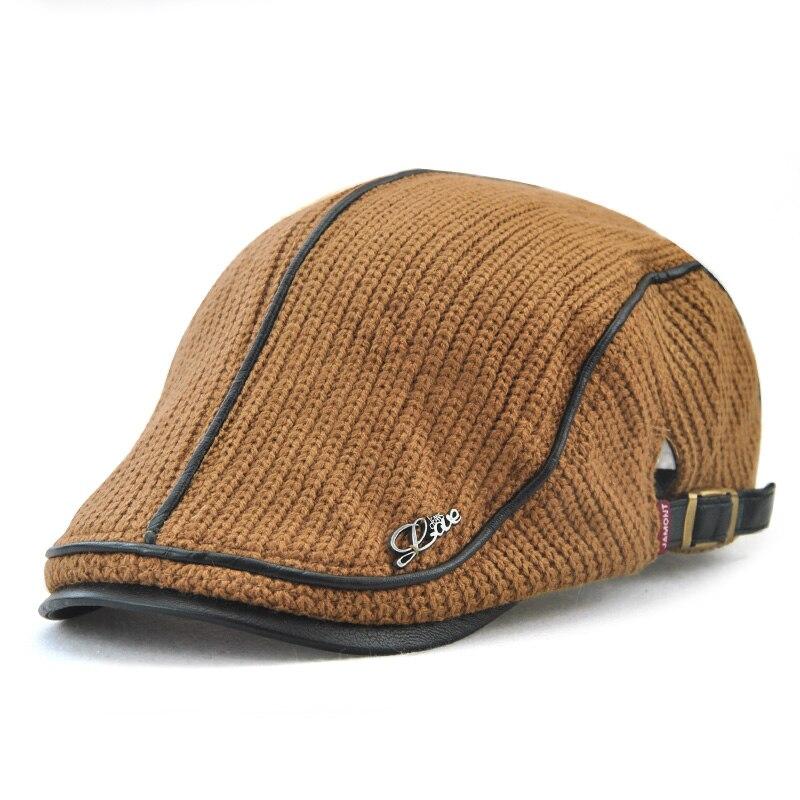 JAMONT 2018 Hohe Qualität Marke Gestrickte Mütze Casquette Homme Leder Flache Kappe für Männer Boina Hombre Visier Hut Planas Hysterese hut