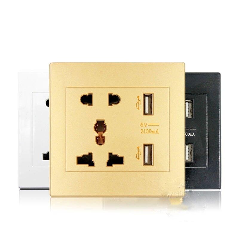 Универсальный USB розетки переменного тока 110-250 В США Великобритании ЕС AU розетки 2 Порты и разъёмы 5 В USB выход Мощность Зарядное устройство д…