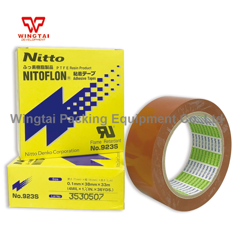 T0.10mm*W38mm*L33m NITTO DENKO Single Sided Adhesive Tape 923S Nitoflon Tape t0 10mm w38mm l33m nitto denko heat sealing machine use heat resistant tape 923s