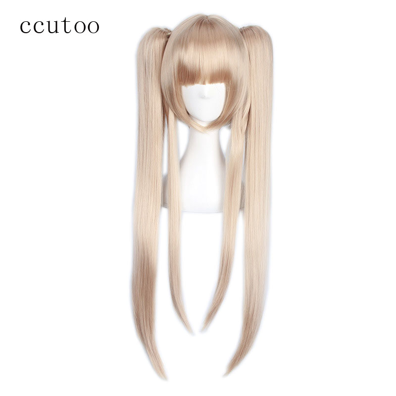 ccutoo 70cm Scums Wish Kamomebata Noriko Flax Blonde Long Synthetic Cosplay Hair Wig Heat Resistance Costume Wigs