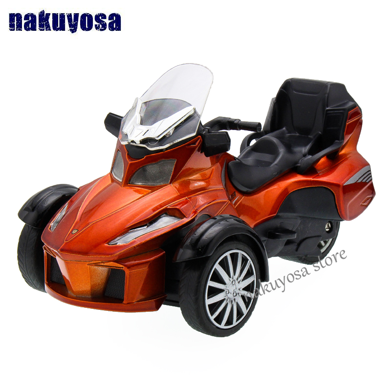 Bombardier Inverted Tricycle Motorcycle Model 1:36 Alloy Toy Car Acousto-optic Pull Back Kid Toy Children's Day Birthday Gift
