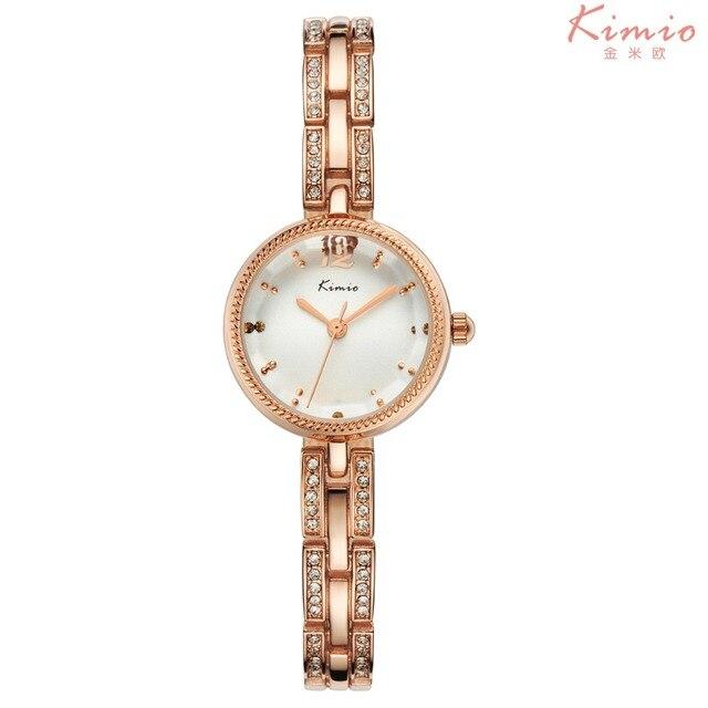 Kimio часы люксовый бренд женщины Стразы кристалл полоса мода повседневная дамы браслет аналоговый кварцевые часы montre femme часы