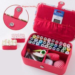 Image 1 - Wedding Fabric Sewing Box Home Wedding Dowry Sewing Kit 33 Stitching Needle Tape Scissor Multifunction Threads