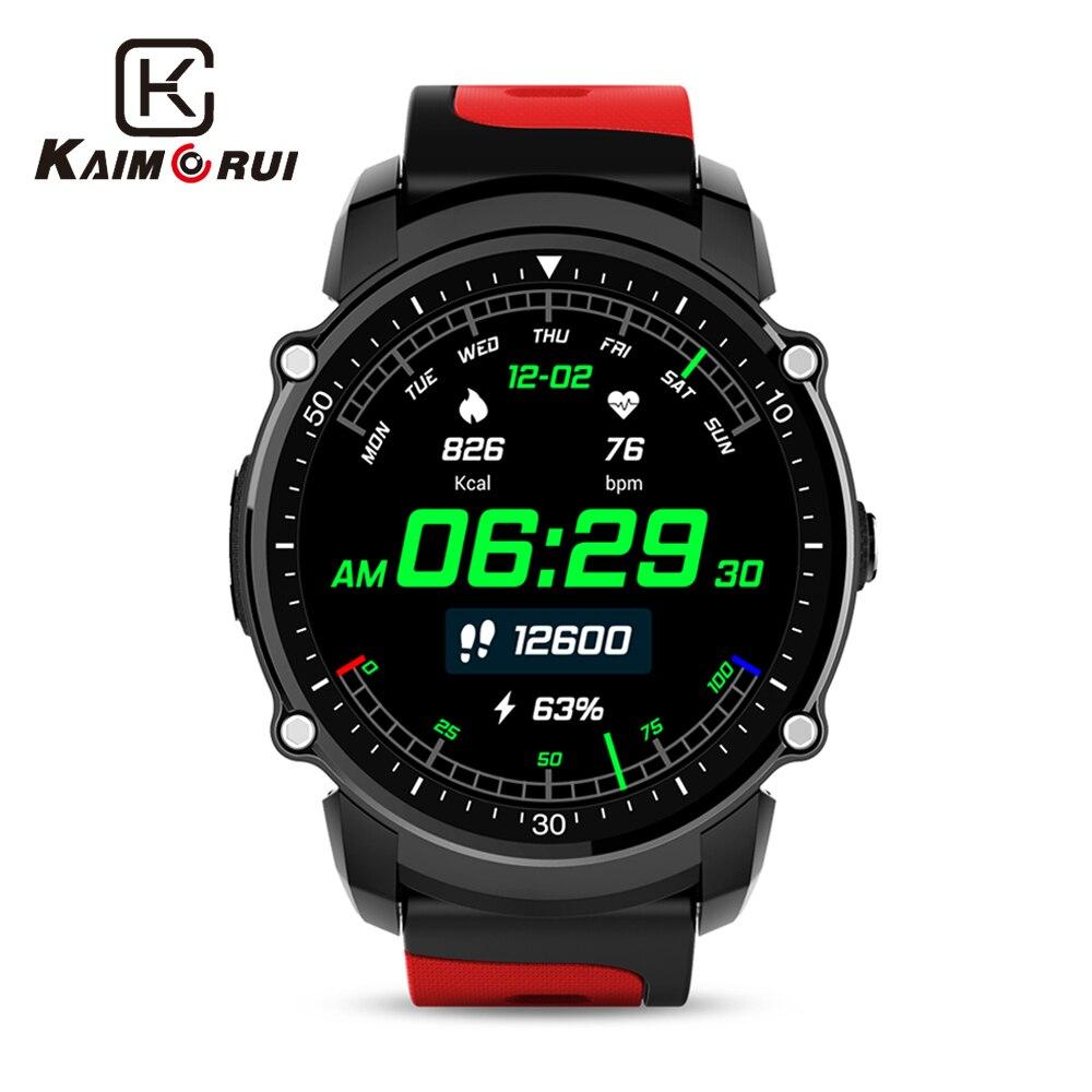 Kaimorui montre connectée IP68 Étanche FS08 montre bluetooth gps intelligent tracker de fitness cardio-fréquencemètre Multi-mode Sport Smartwatch Hommes