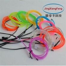 цена на 5meter Car DIY Light Strip Waterproof EL Cold lamp Flexible Light Glow EL Wire Rope Tape Cable Universal door center console